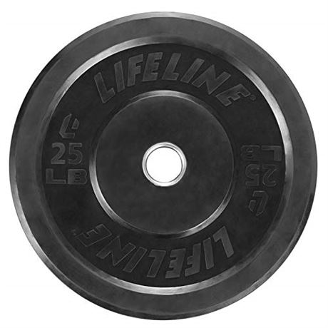 Lifeline Rubber Bumper Plate - Multiple Weight Options