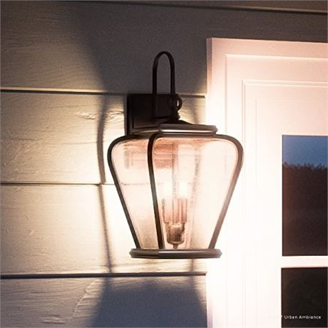 "Luxury French Country Outdoor Wall Light, Medium Size: 17.5""H x 8.5""W, with Med"