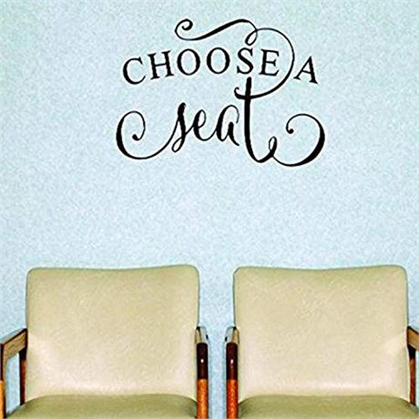 Design with Vinyl Moti 1794 3 Choose A Seat Inspirational Quote Peel & Stick Wa