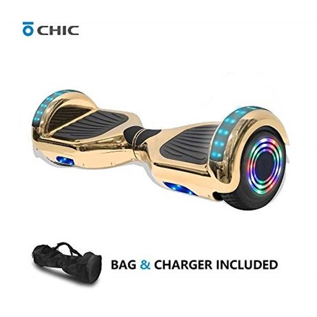 Chic Rechargeable Hoverboard for Kids and Adults with Wireless Speaker and LED